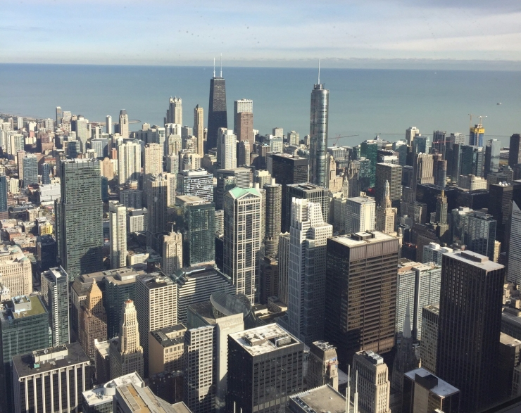 chicago from Sears tower