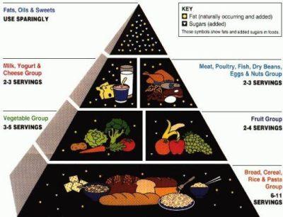 old food pyramid